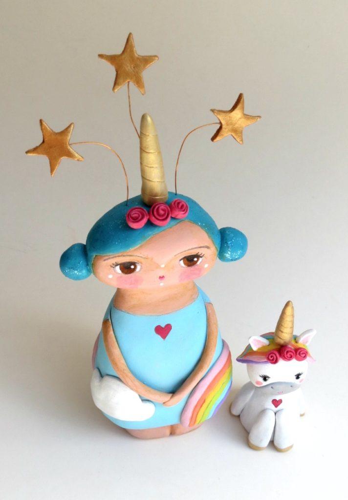 custom made art doll for unicorn