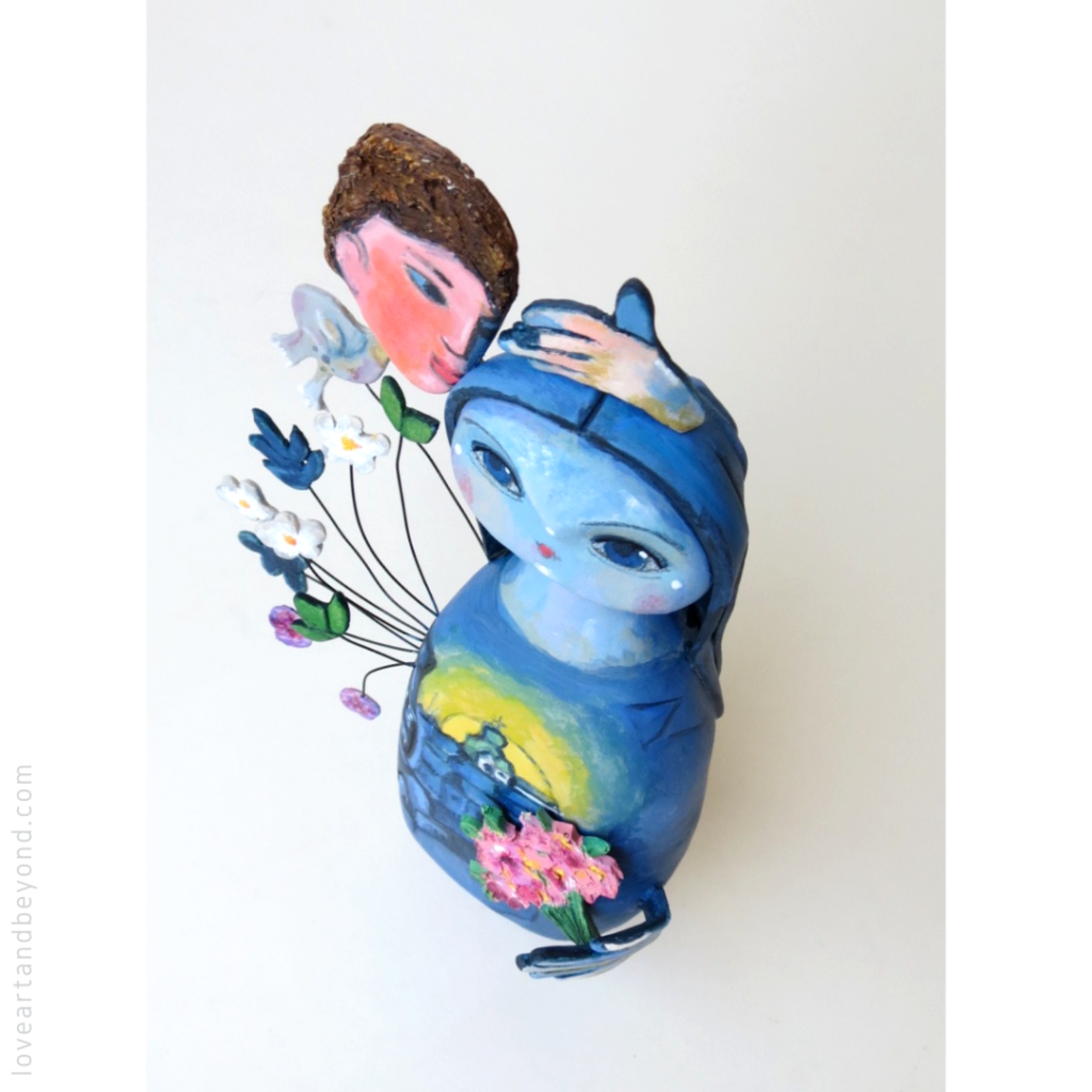 art doll inspired by Marc Chagall