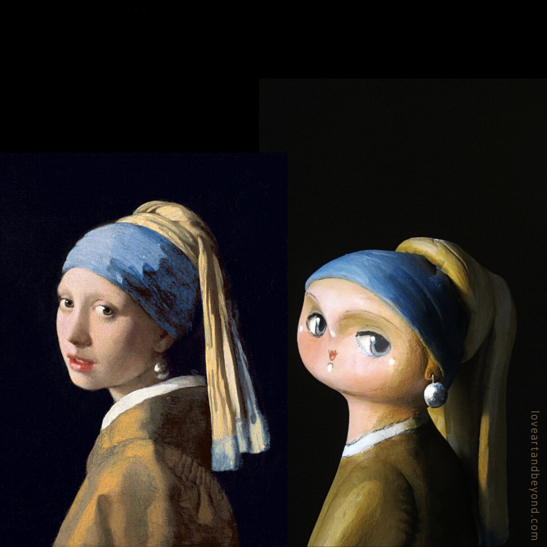 girl with a pearl earring art doll