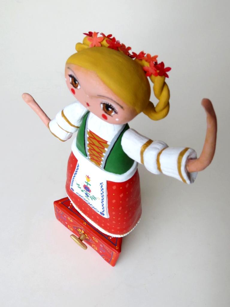 chitty chitty bang bang doll on a music box