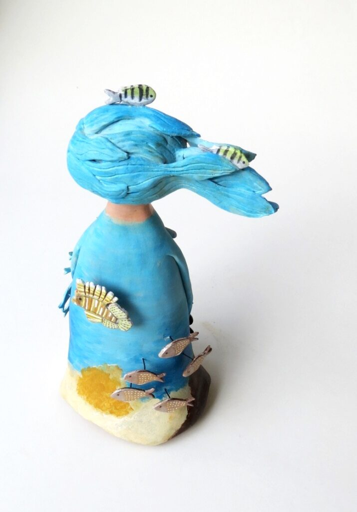 custom art doll ocean