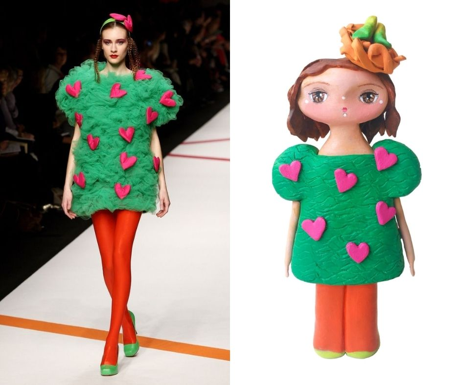 art doll inspired by agatha ruiz de la prada